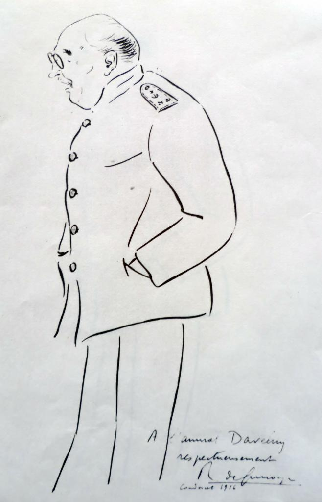 Silhouette de l'Amiral Daveluy 1916