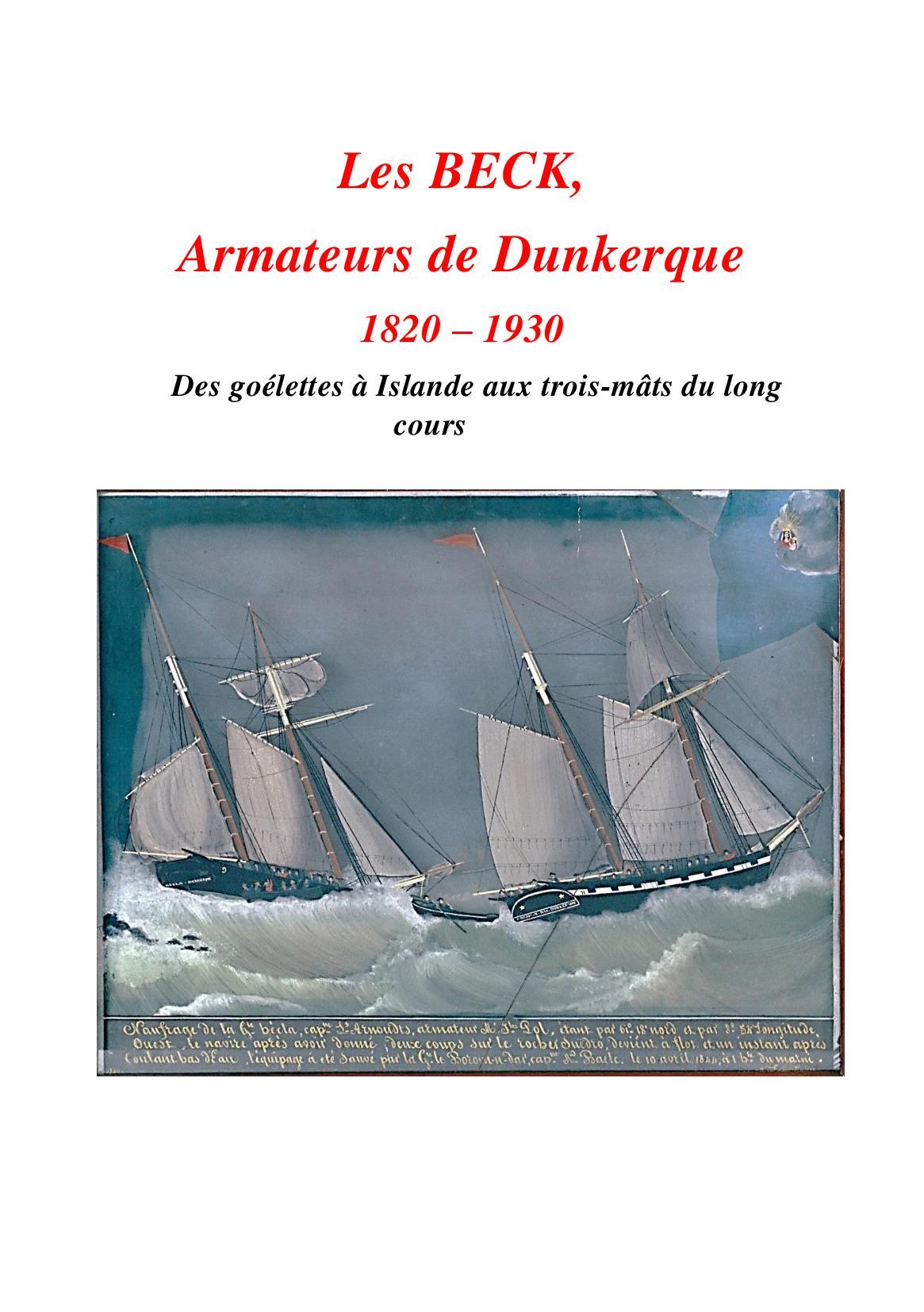 Les Beck, armateurs de Dunkerque
