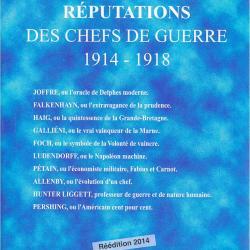 Réputation des chefs de guerre de 1914-1918
